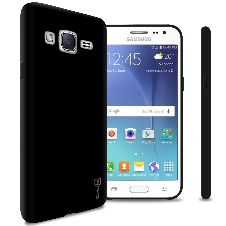 quality design 95454 4c6b2 Details about Black Case for Samsung Galaxy J2 (2016) Flexible Shockproof  Slim Rubber TPU