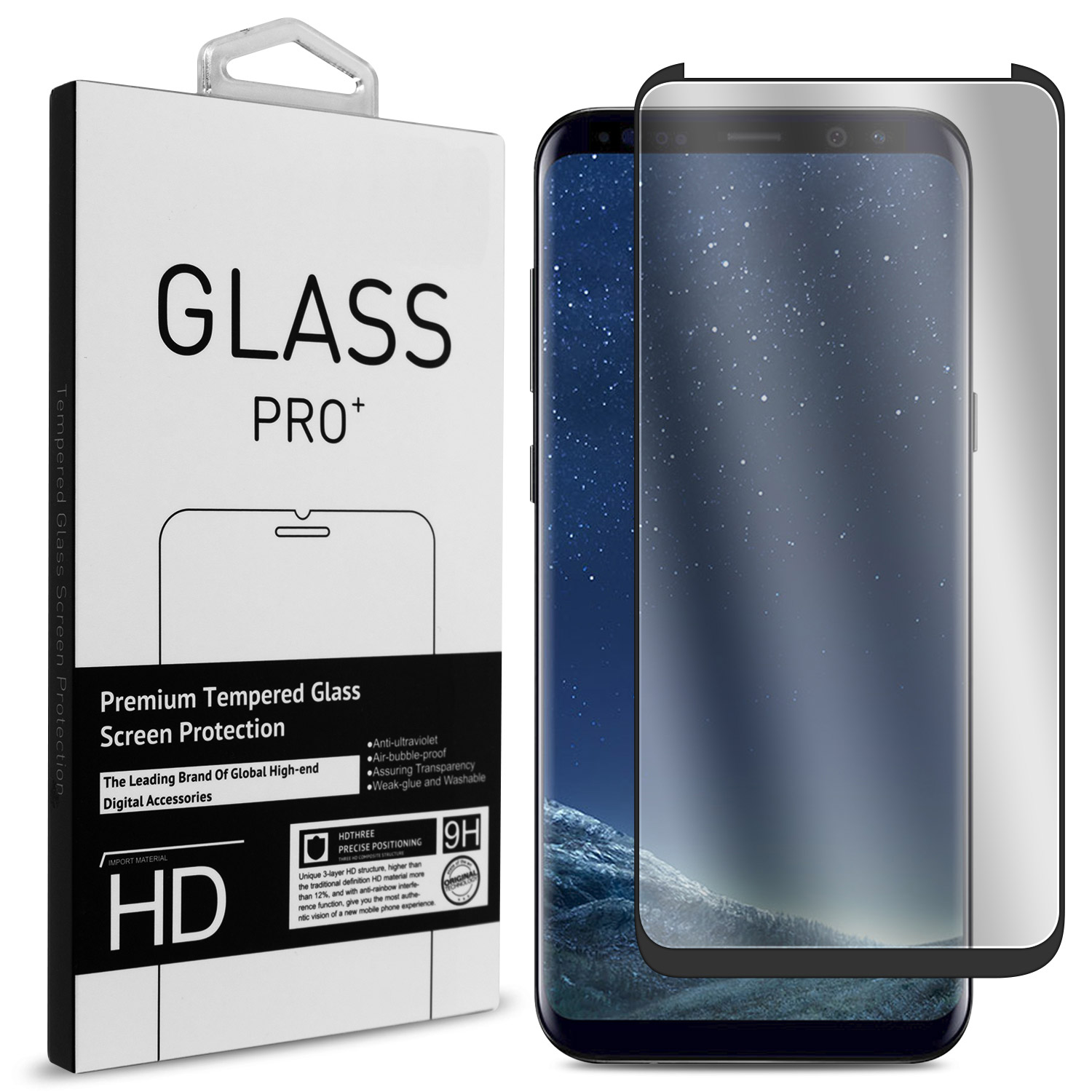 reputable site ac88c 77627 Case Friendly 9h Tempered Glass Screen Protector for Samsung Galaxy S8 Plus