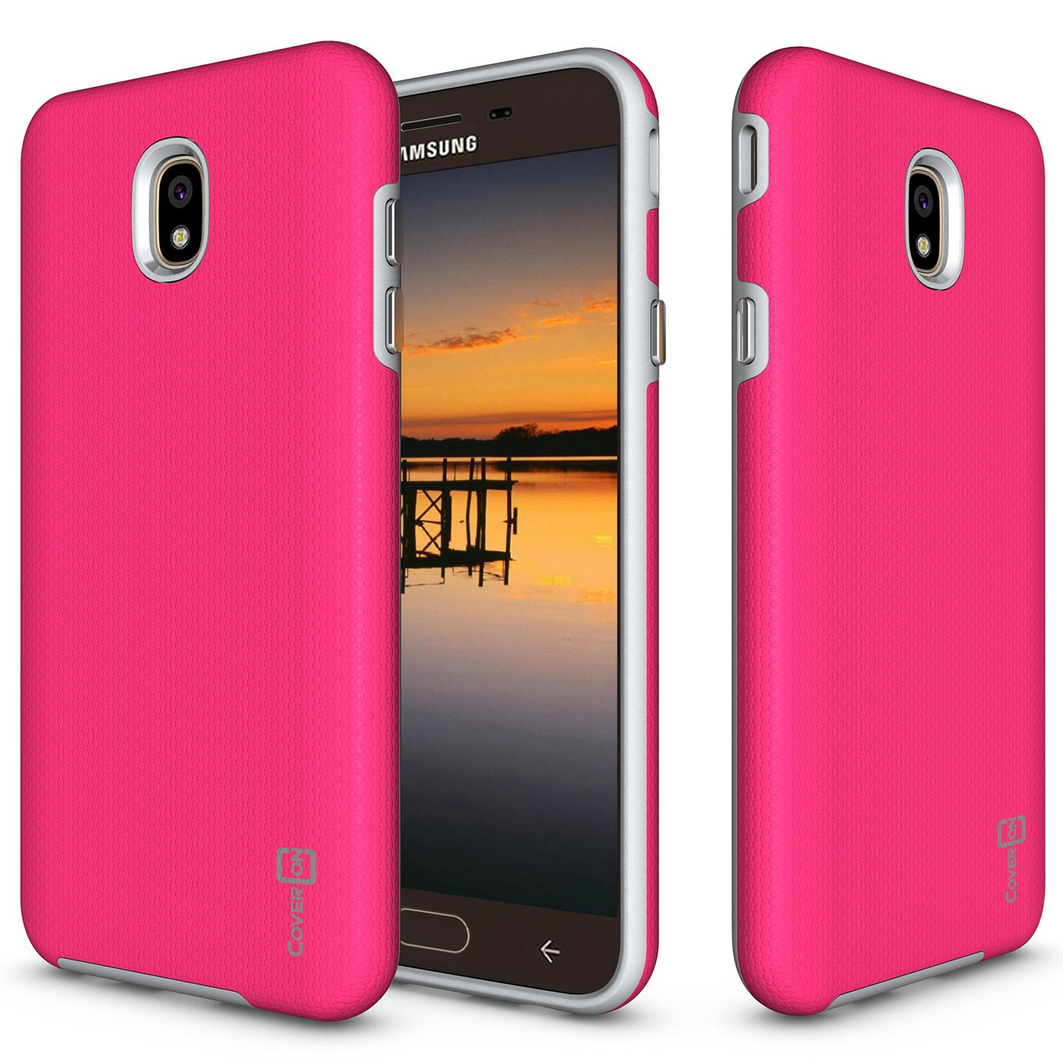 buy online c7556 6c8e6 Details about Hot Pink Hard Case For Samsung Galaxy J7 Star / J7 Aero / J7  Eon / J7 Crown