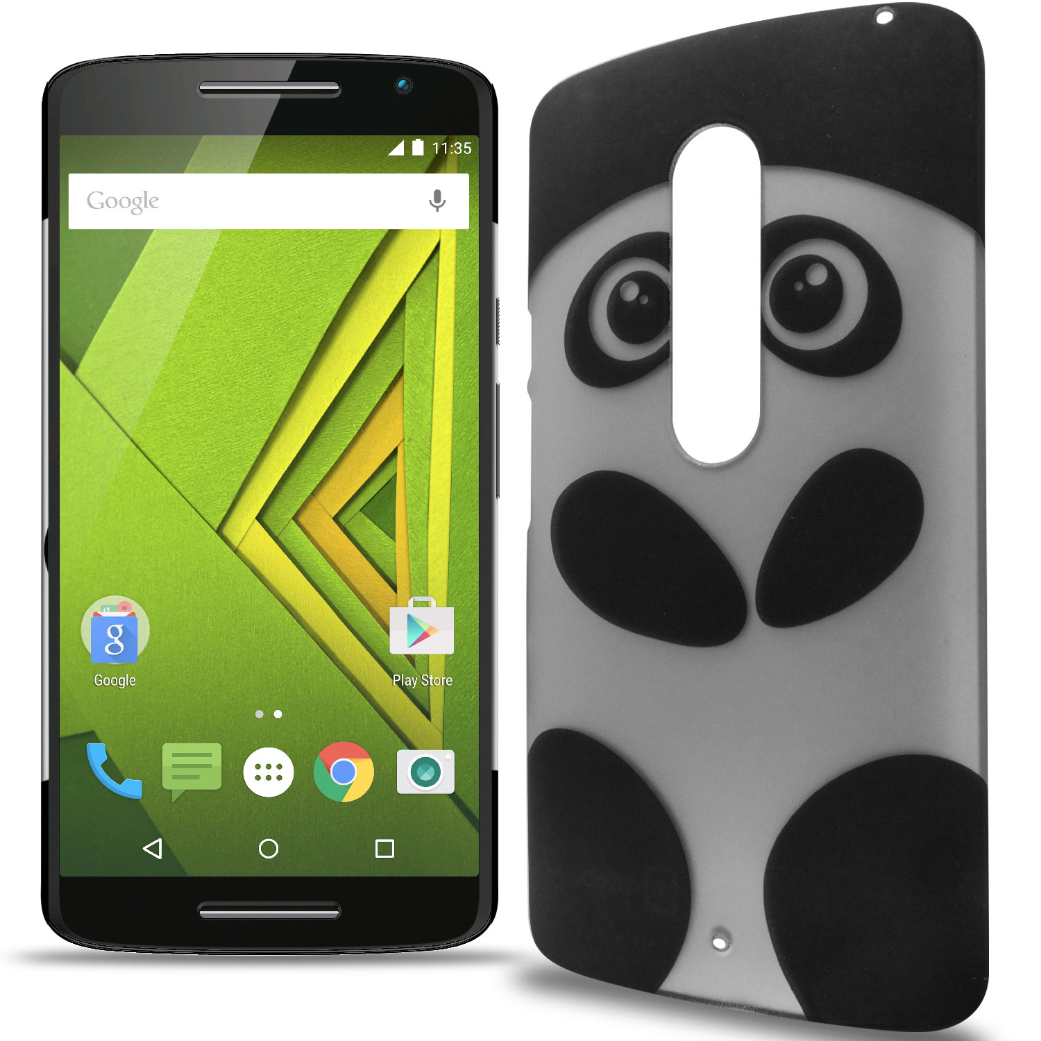 check out 1e08c 301a3 Details about Case For Motorola Droid Maxx 2 / Moto X Play - Cute Panda  Design Slim Back Cover