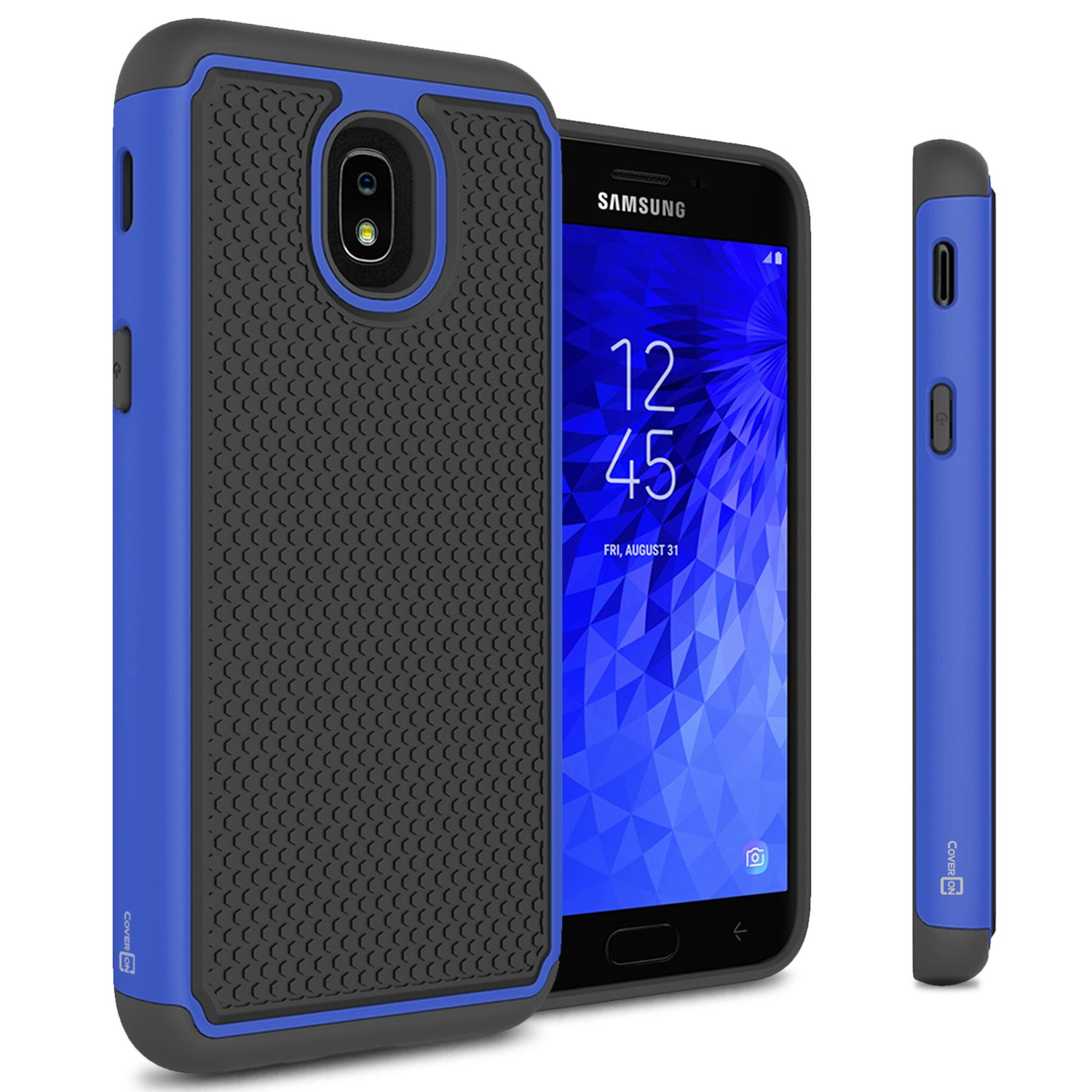 official photos 3e95c b4a62 Details about Blue / Black Case For Samsung Galaxy Amp Prime 3 / Express  Prime 3 Hybrid Cover