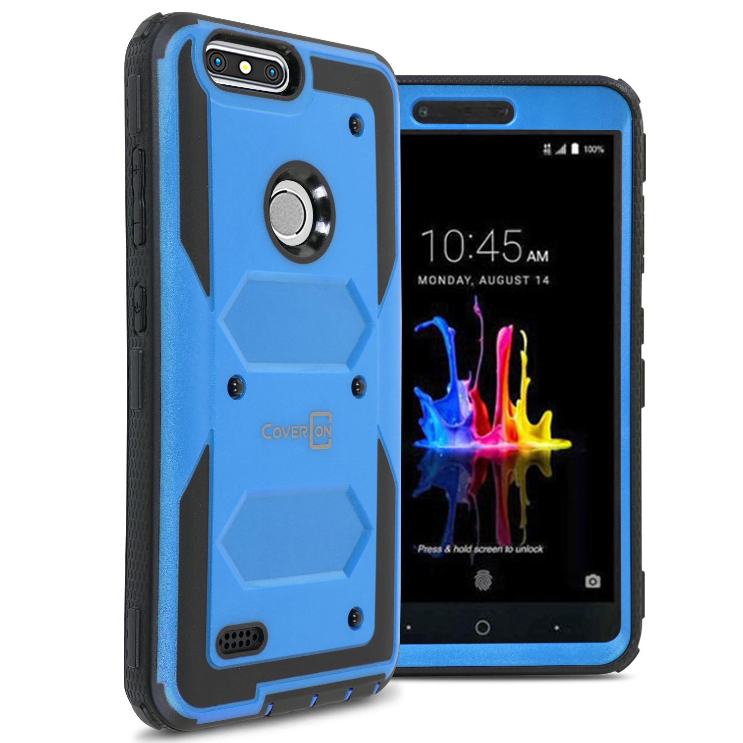 Details about Protective Hard Cover Case For ZTE ZMax Pro 2 / Sequoia /  Blade Z Max - Blue