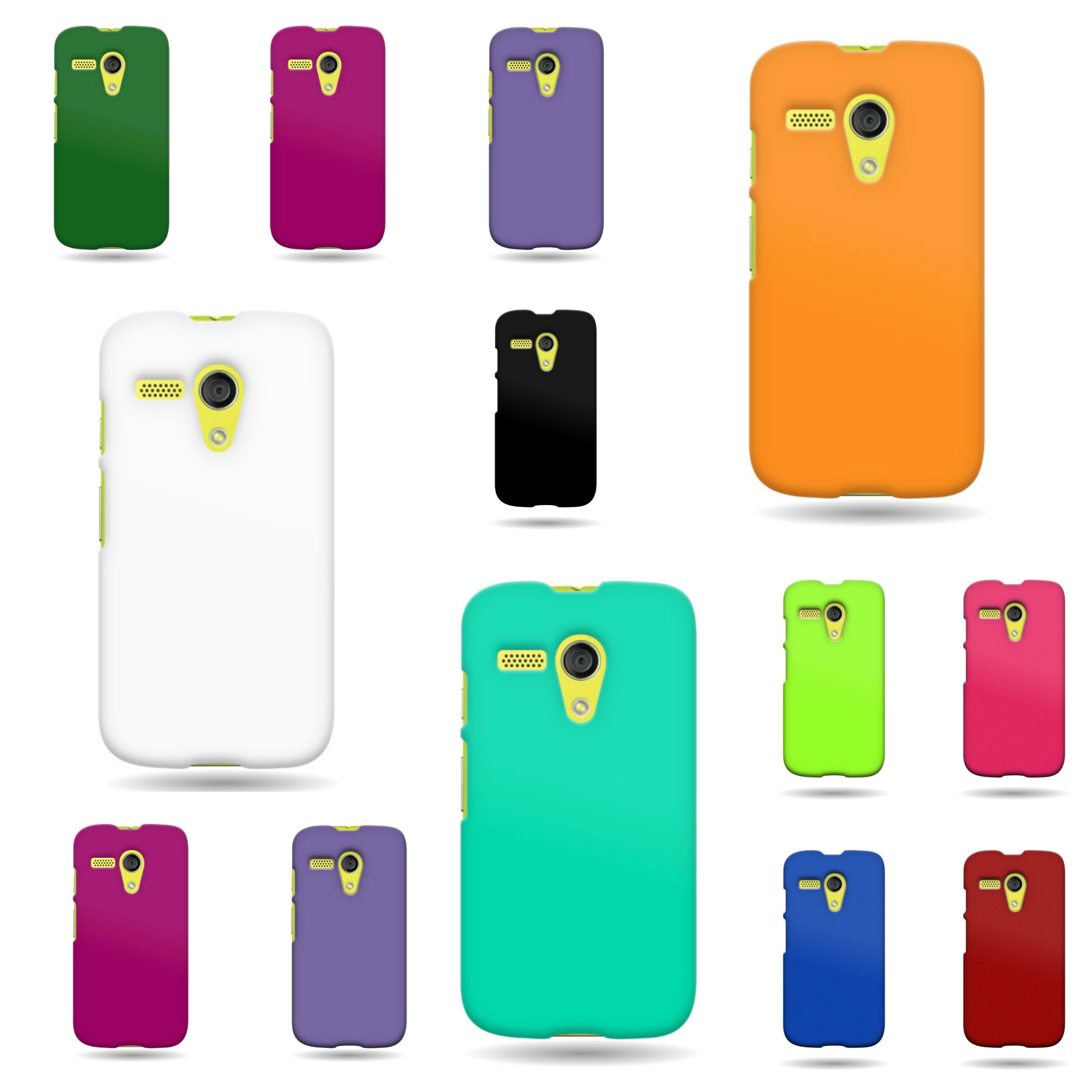 For-Motorola-Moto-G-LTE-1st-Gen-Slim-Case-Hard-Rubber-Shell-Various-Covers