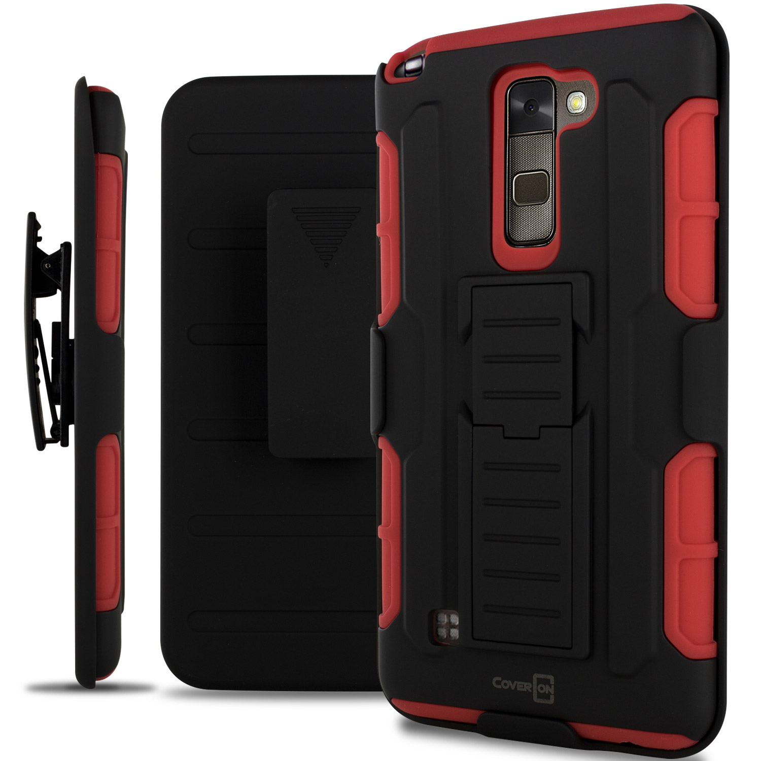 newest ffb86 3dae1 Details about Red Hybrid Rugged Case Holster Cover for LG Stylus 2, G Stylo  2, Stylo 2 V