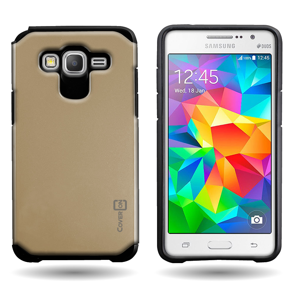 new product 57992 555b3 For Samsung Galaxy Grand Prime Tough Impact Hybrid Cover Hard ...