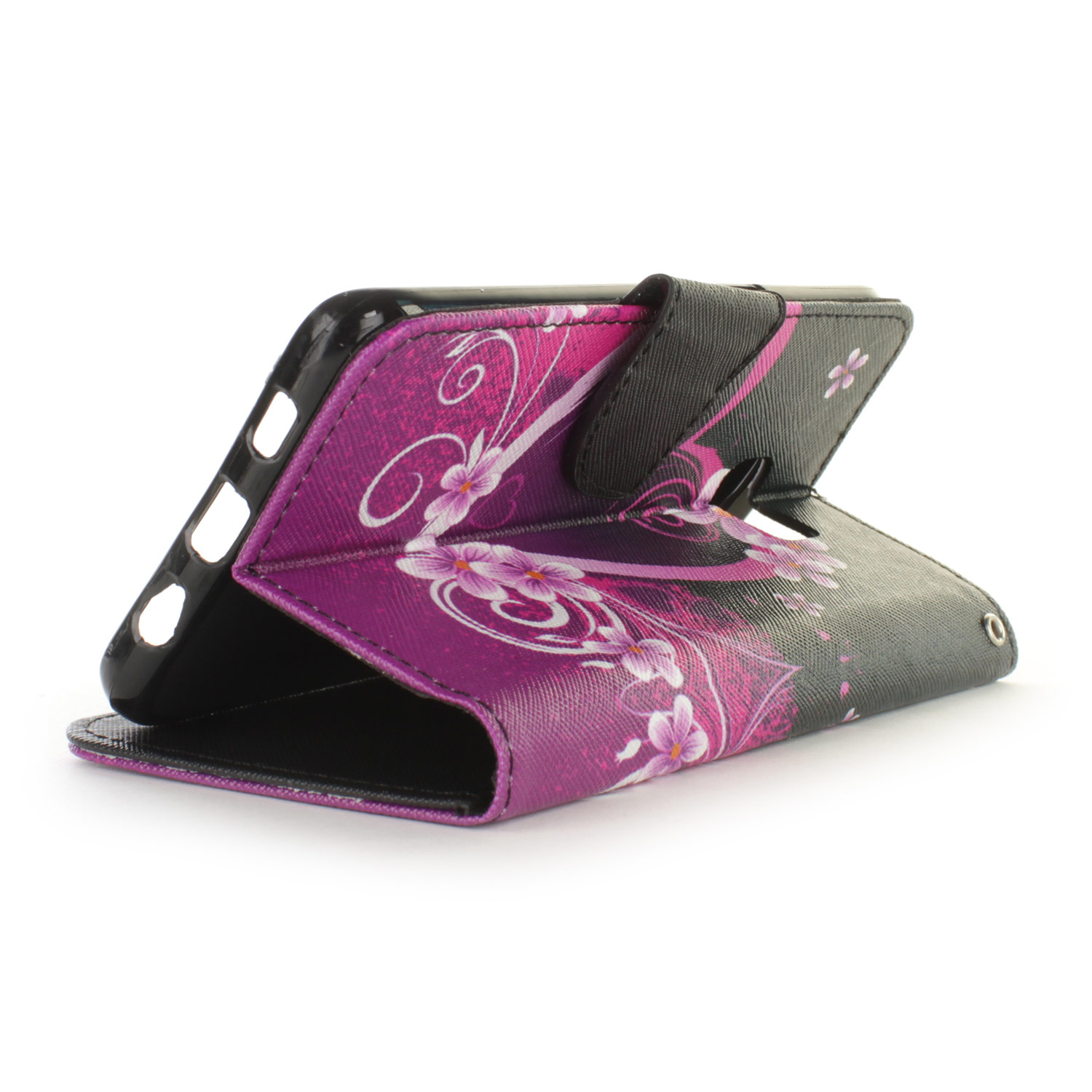 a26c274d97 Purple Heart Design Wallet Pouch Cover Case For Samsung Galaxy S6 ...