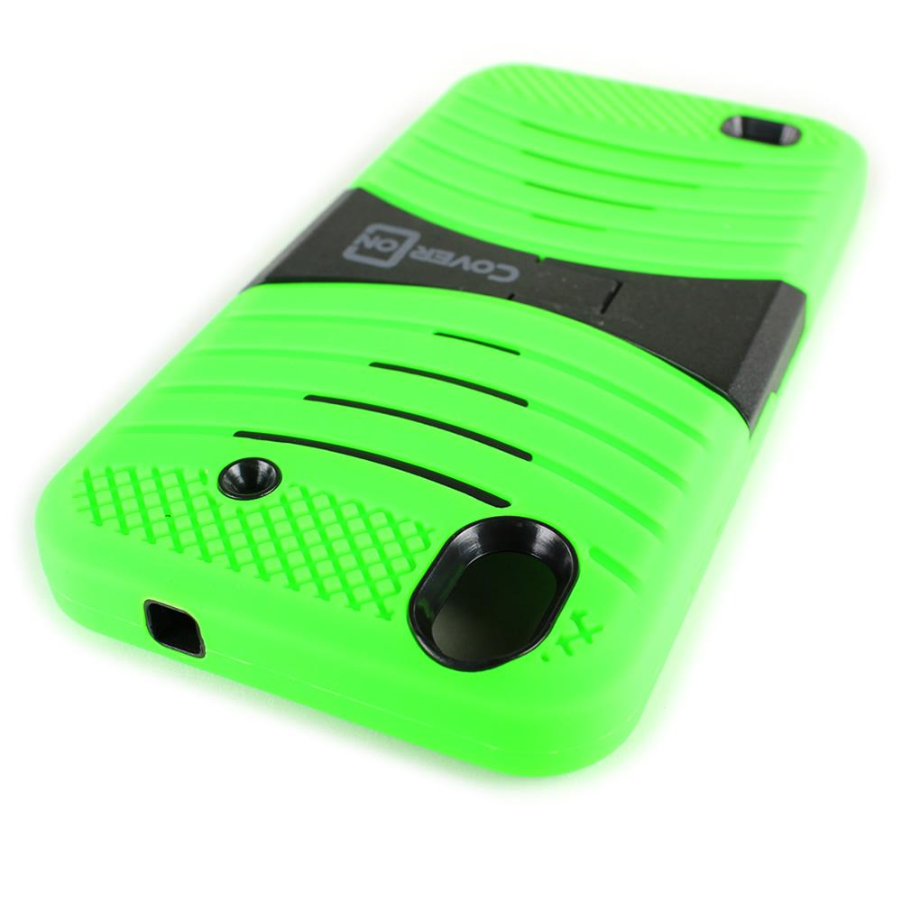 newest a4dca 42915 Details about For ZTE Quartz Case - Neon Green/Black Hybrid Tough Skin  Phone Cover